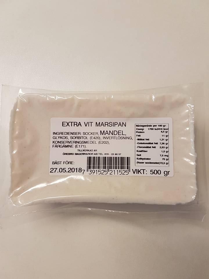 Extra vit marsipan
