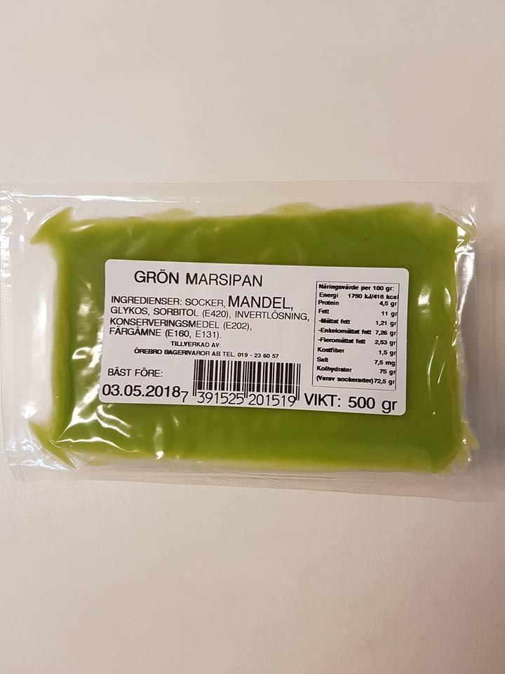 Grön marsipan