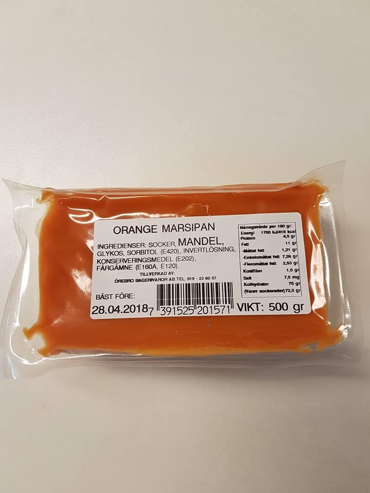 Orange marsipan