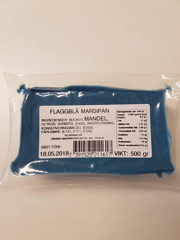 Flaggblå marsipan