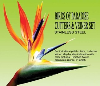Birds of Paradise Cutters & veiner set
