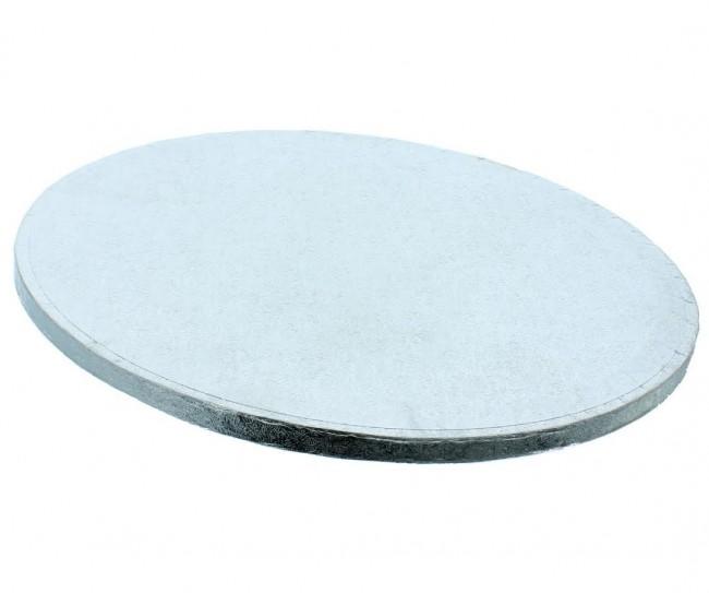 Bricka Rund 10cm, 12mm, Silver
