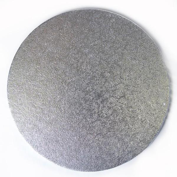 Bricka Rund 35cm, 3mm, Silver