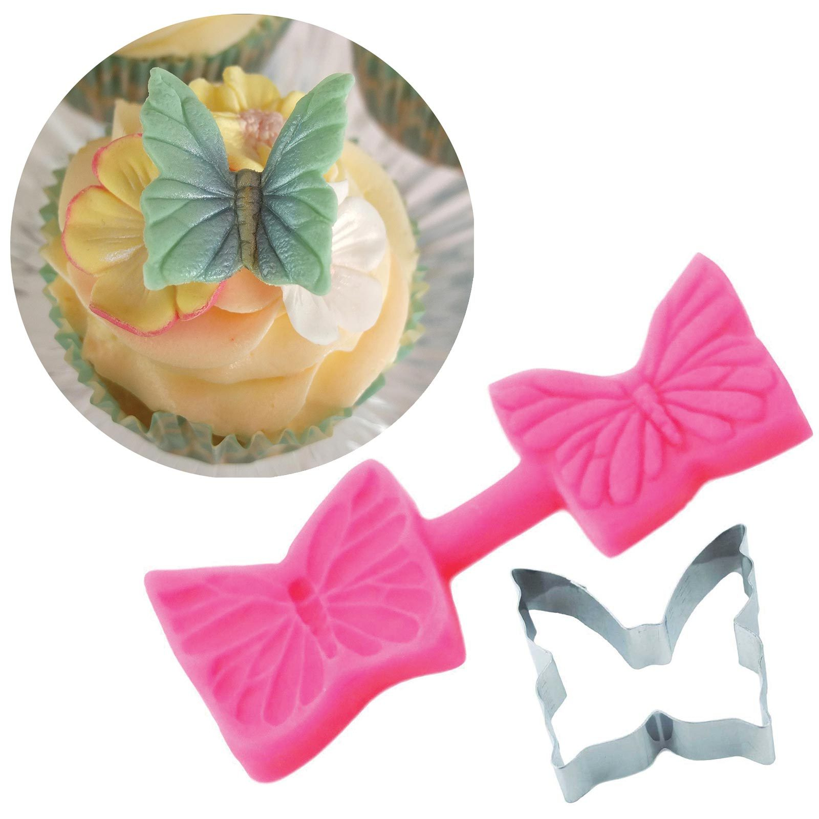 Elegant Butterfly Cutter & Mould Set