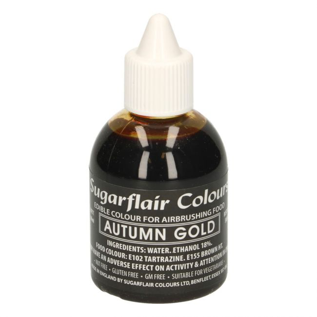 SUGARFLAIR AIRBRUSH COLOURING -AUTUMN GOLD