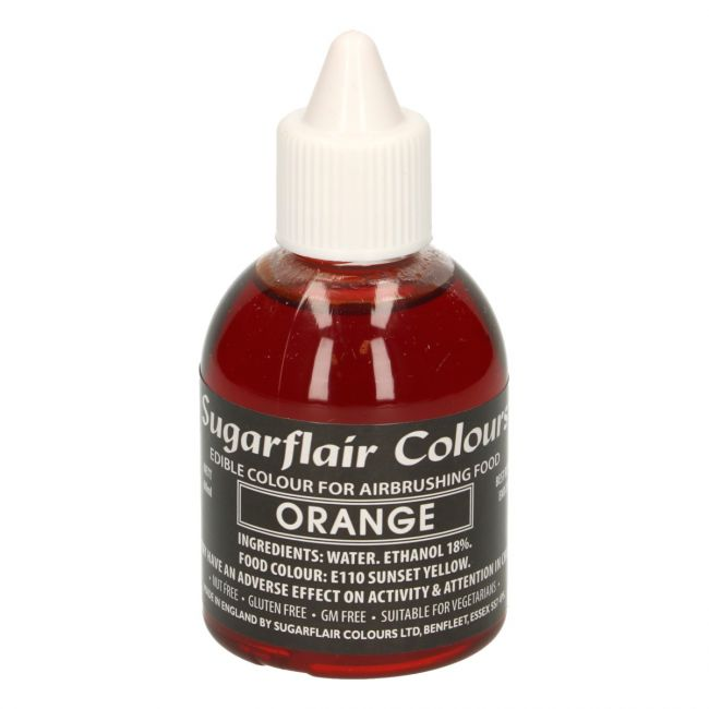 SUGARFLAIR AIRBRUSH COLOURING -ORANGE