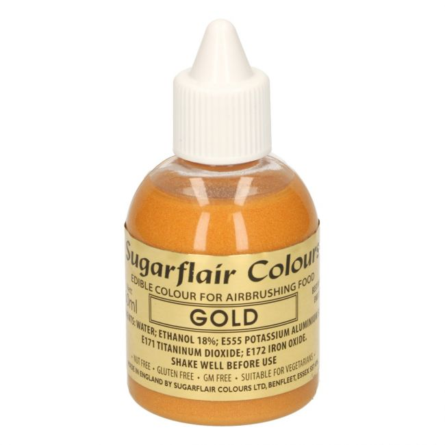 SUGARFLAIR AIRBRUSH COLOURING -GOLD