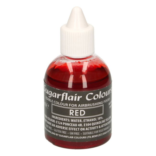 SUGARFLAIR AIRBRUSH COLOURING -RED