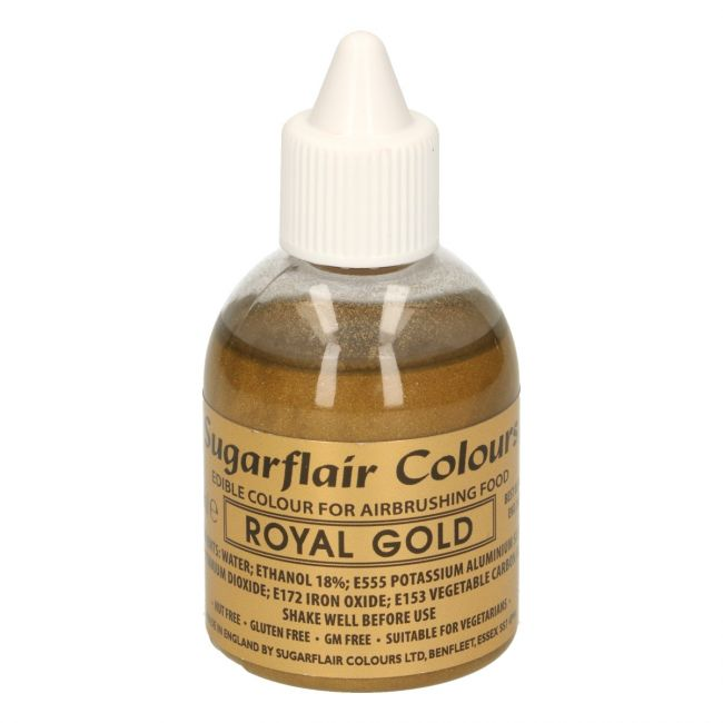 SUGARFLAIR AIRBRUSH COLOURING -ROYAL GOLD