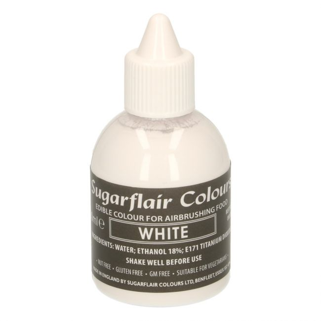 SUGARFLAIR AIRBRUSH COLOURING -WHITE