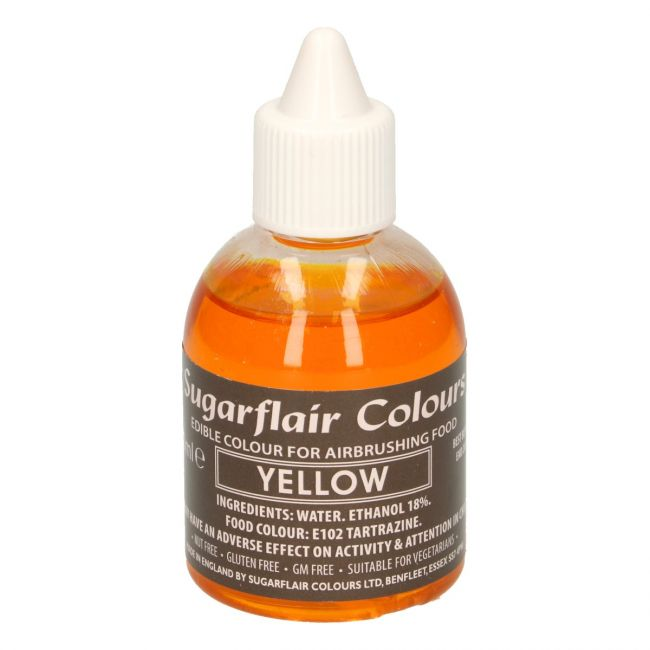 SUGARFLAIR AIRBRUSH COLOURING -YELLOW