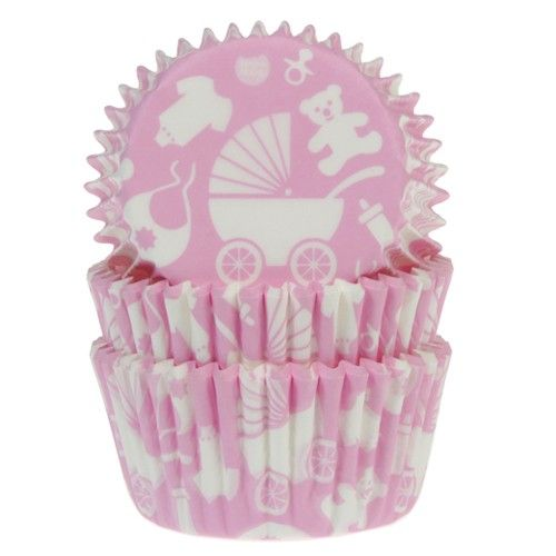 House of Marie Baking Cups Newborn pink pk/50