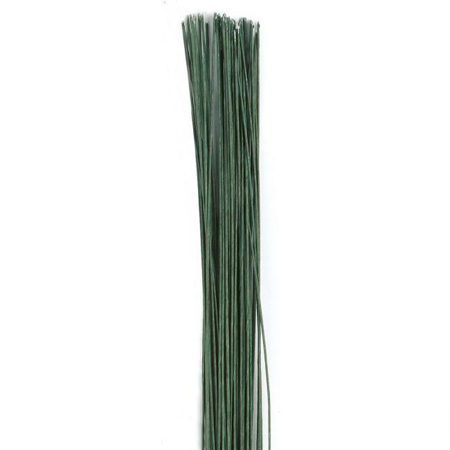 CULPITT FLORAL WIRE DARK GREEN SET/50 -24 GAUGE-t