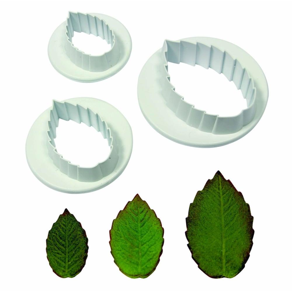 PME Veined Rose Leaf Cutter Set Of 3