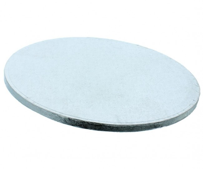 Bricka Rund 20cm, 12mm, Silver