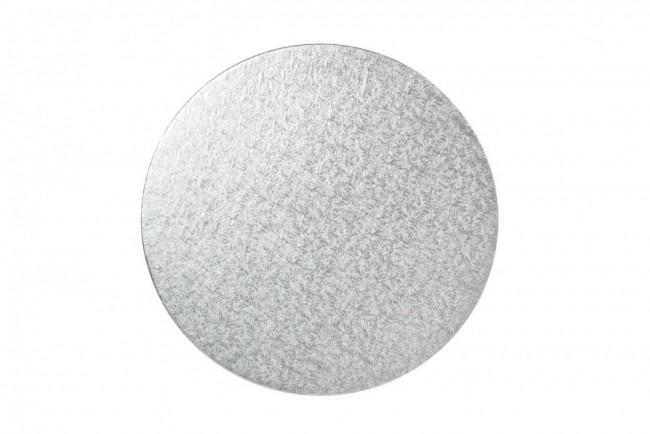 Bricka Rund 25cm, 3mm, Silver