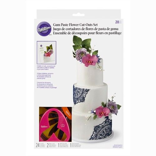 Wilton Gum Paste Flower Cutter Set of 28