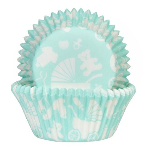 House of Marie Baking Cups Newborn mintpk/50