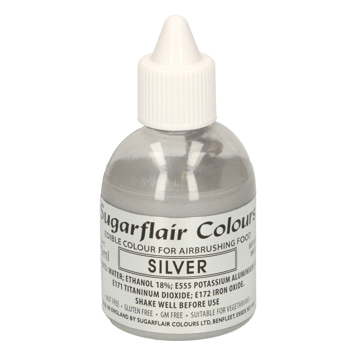 SUGARFLAIR AIRBRUSH COLOURING - Silver