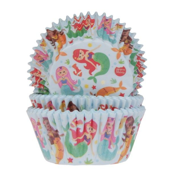 HOUSE OF MARIE BAKING CUPS MERMAID PK/50