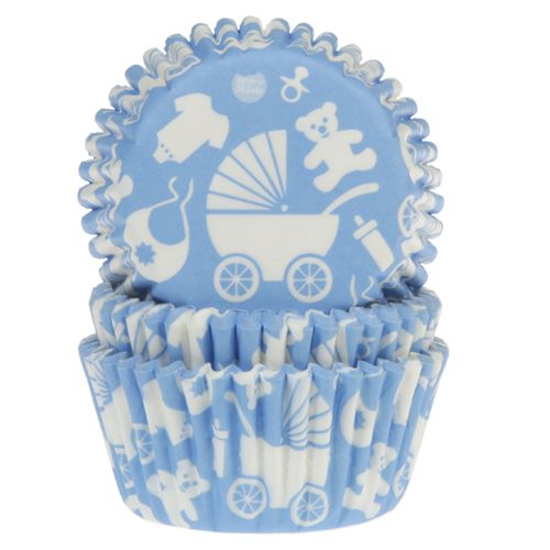 HOUSE OF MARIE BAKING CUPS BABY BLUE PK/50