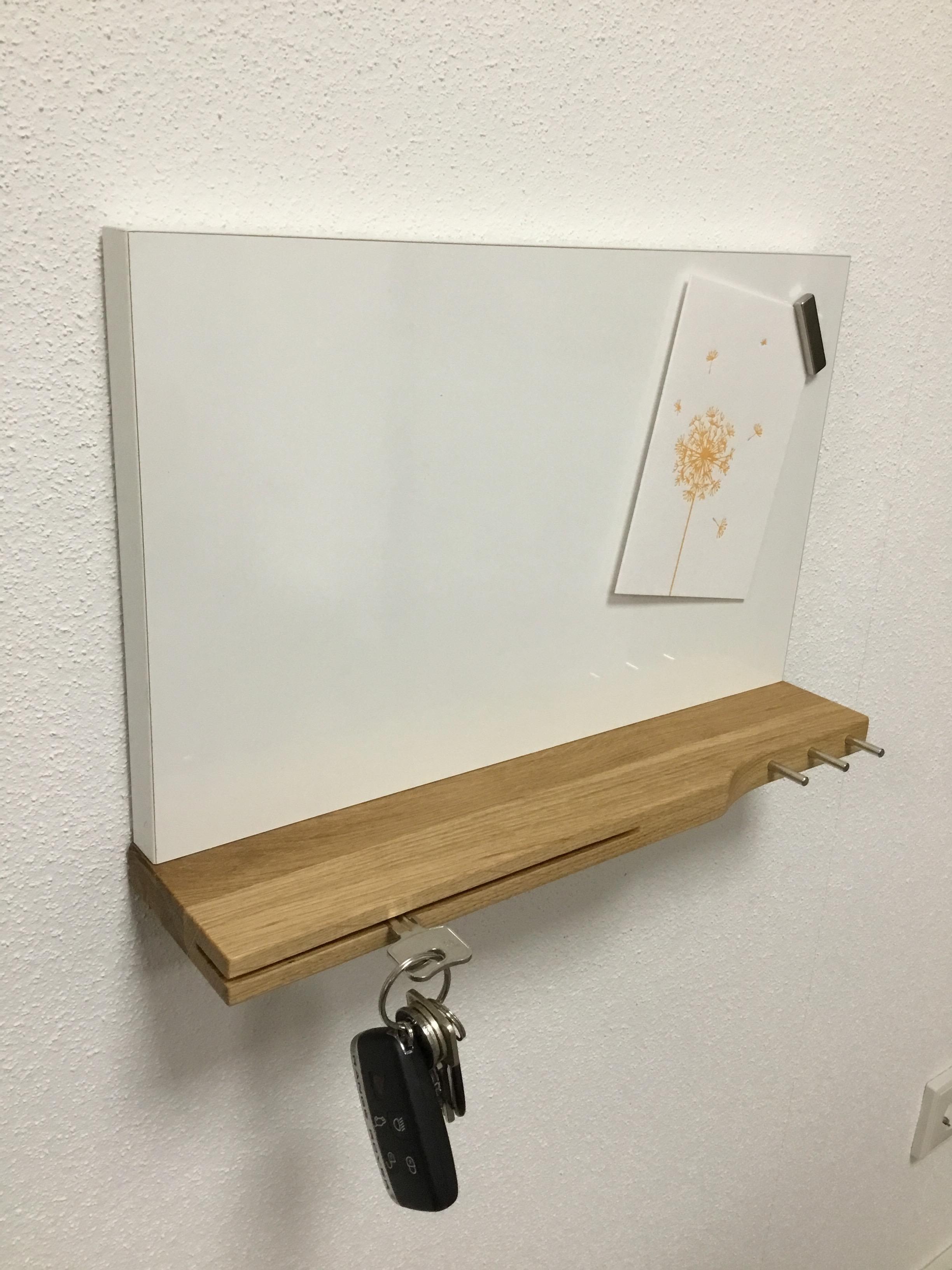 Pinnboard / Memoboard mit Schlüsselablage Schlüsselbord