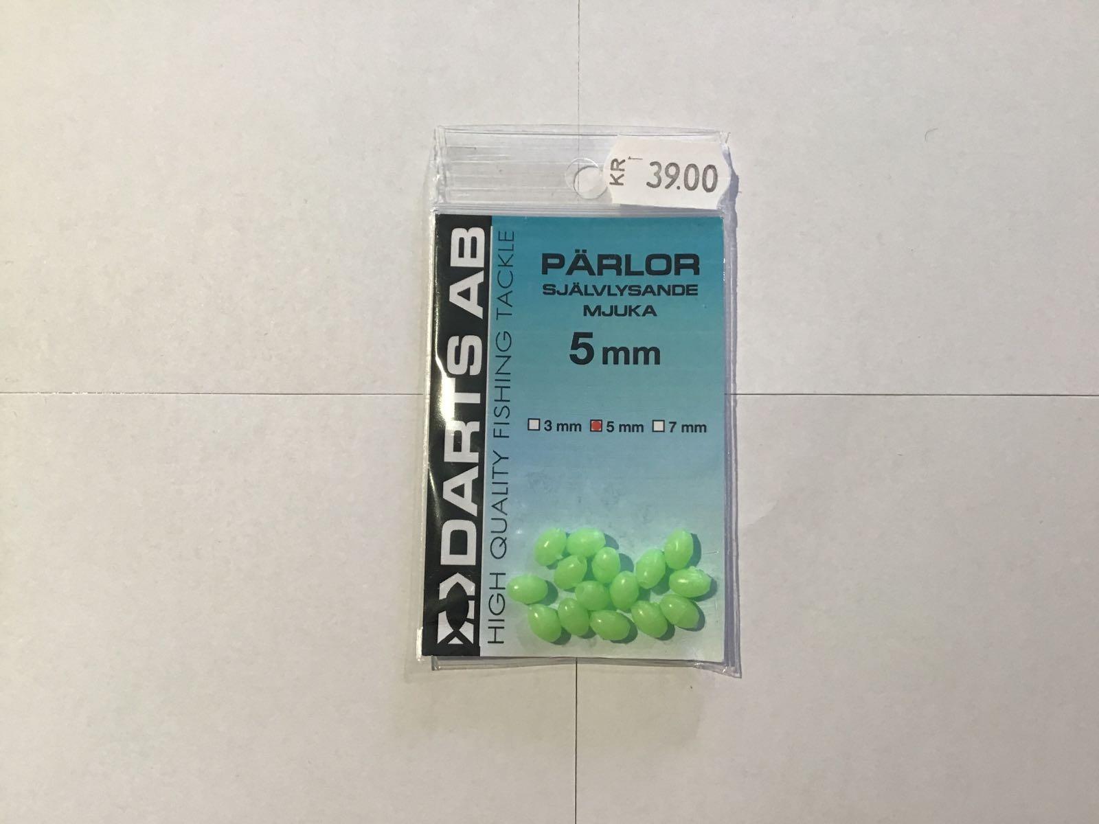 Darts pärlor självlysande mjuka 5mm