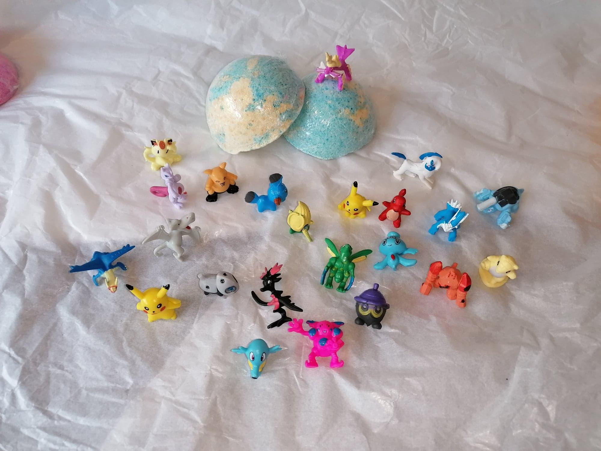 Pokemon/My Little Pony or Animals Inspired Kids Bath Bomb toys