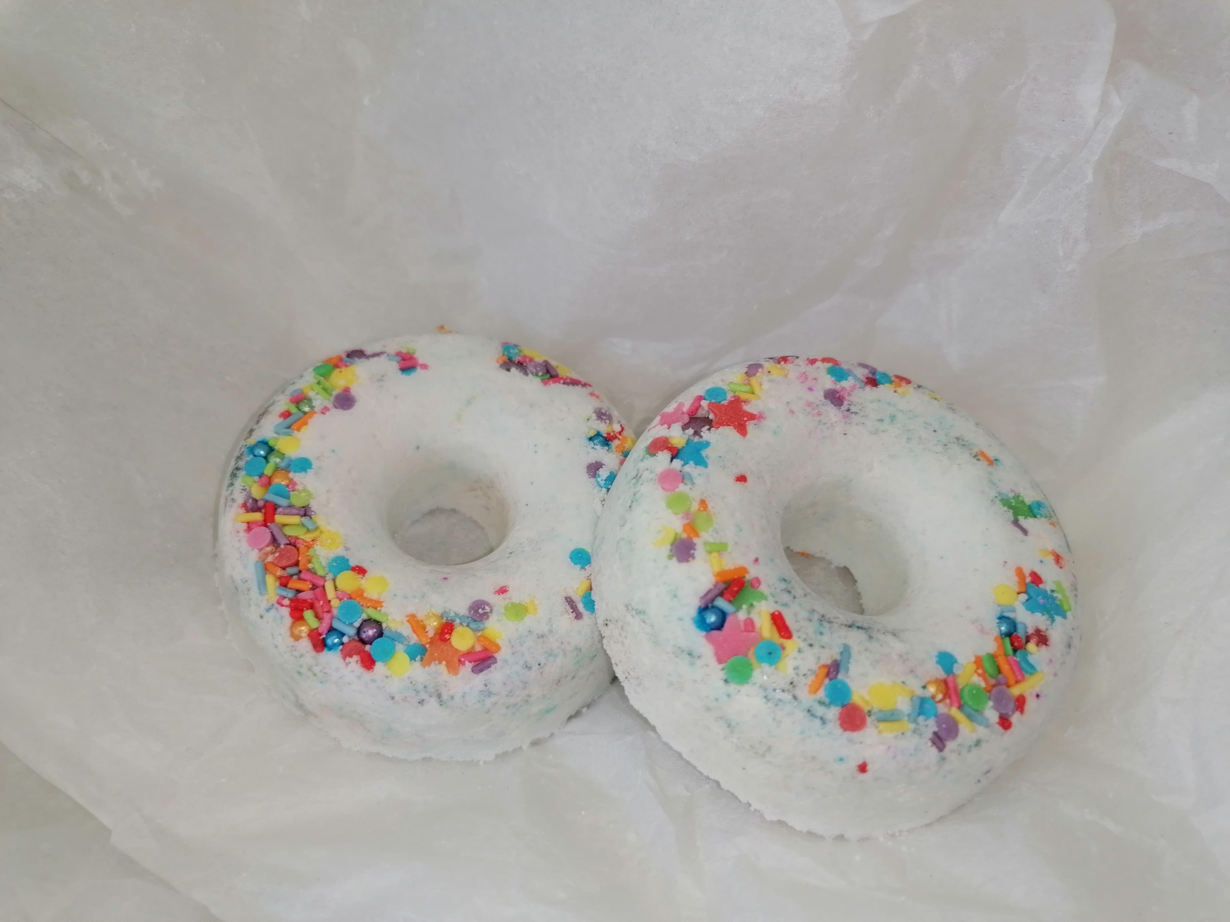 Coconut scented Bath Bomb Doughnuts