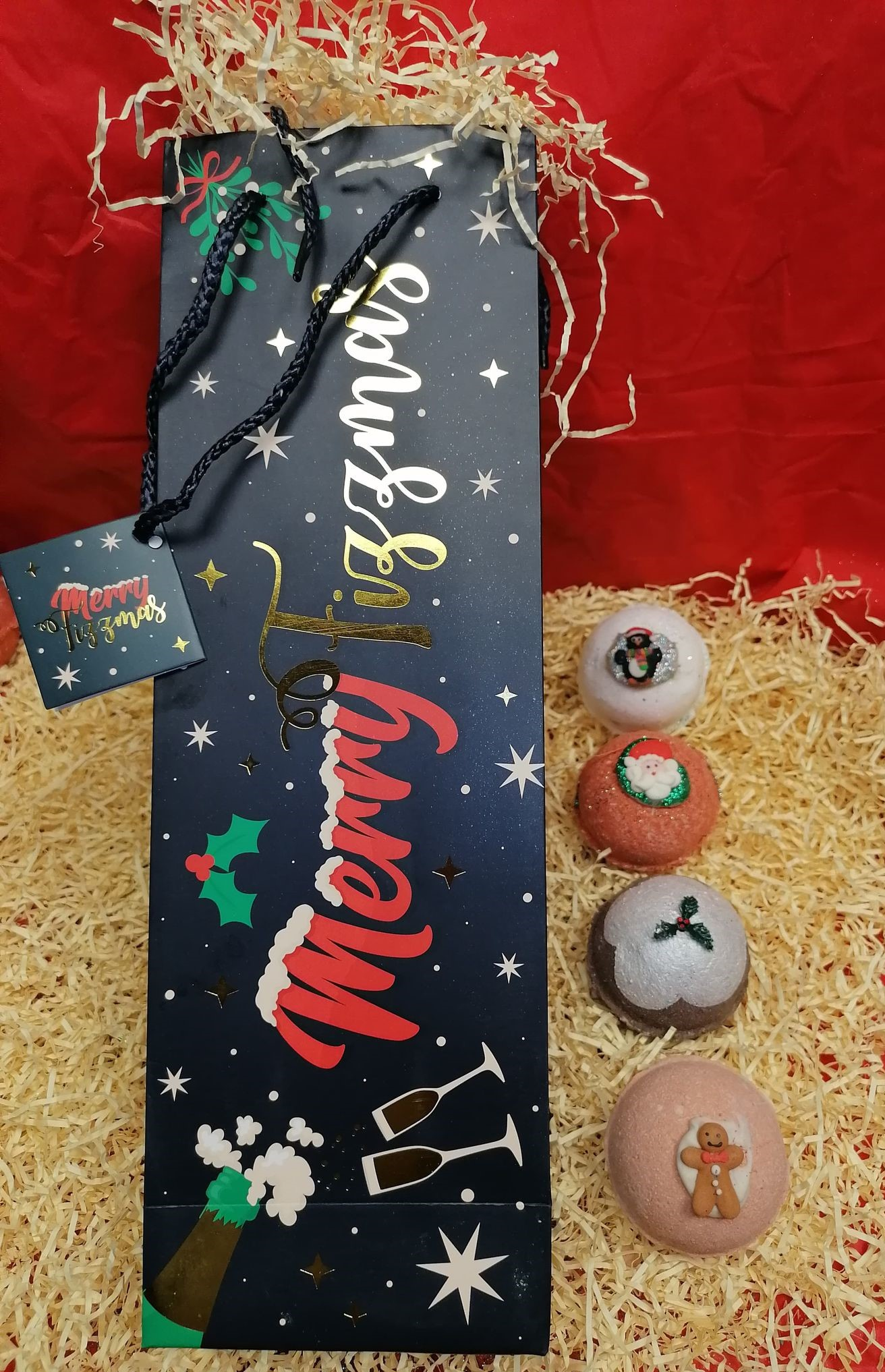 Merry Fizzmas Gift Bag selection