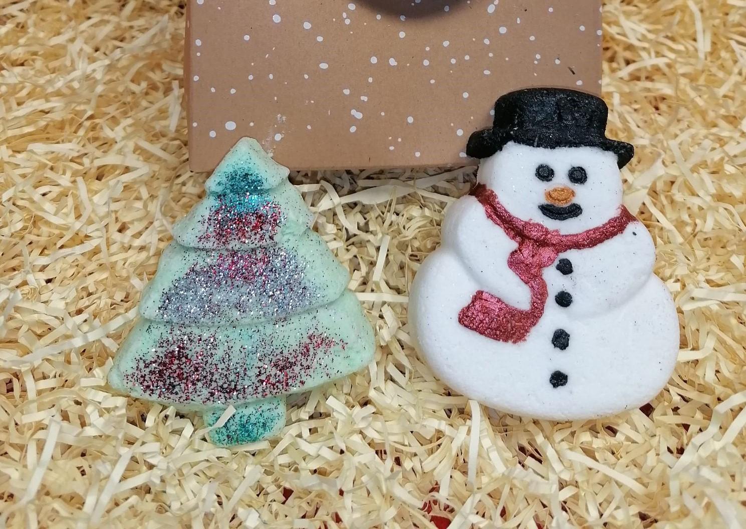 Gift Box Bag Snowman & Christmas Tree