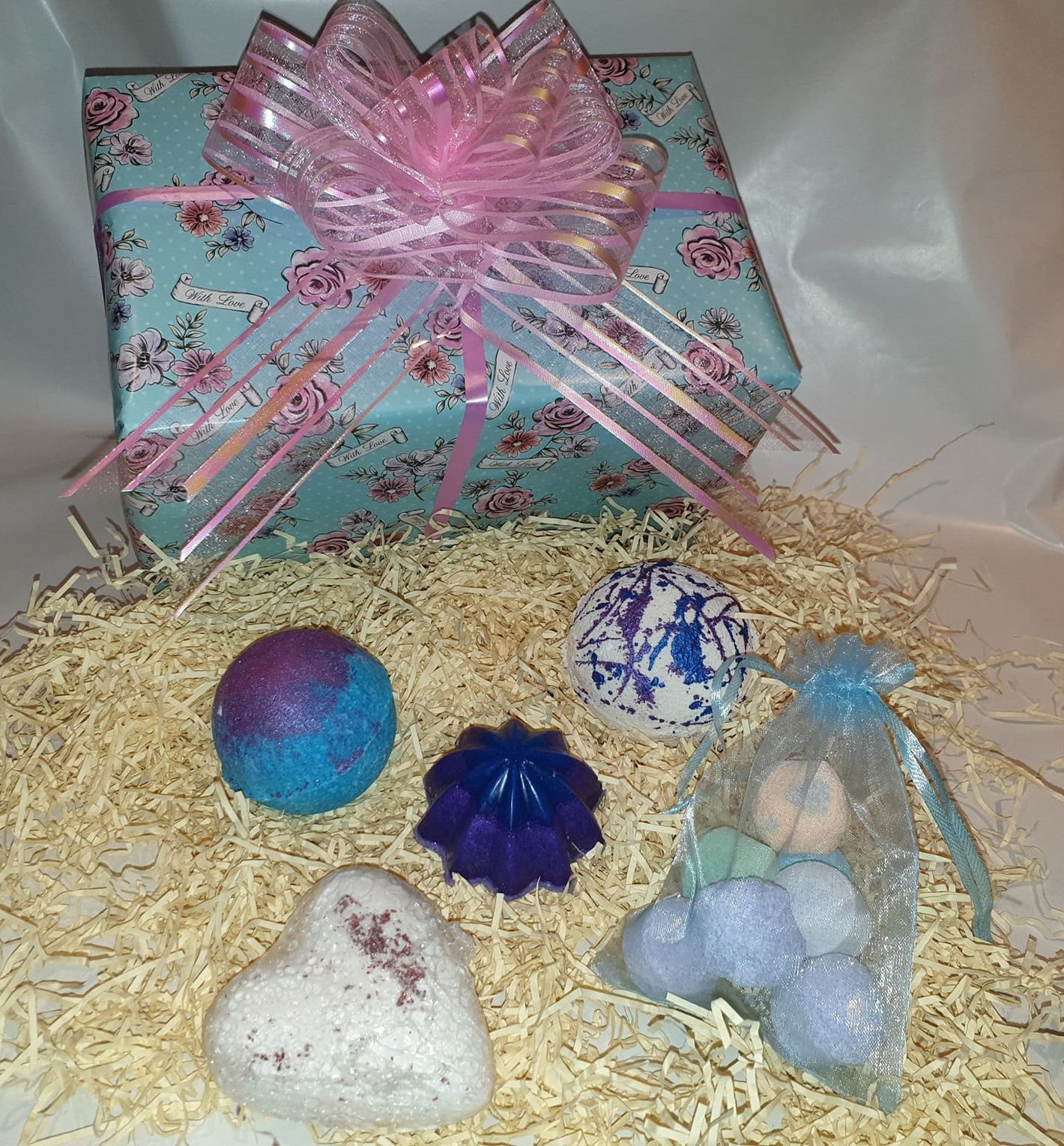 With Love fresh collection gift set, Handmade natural bath bombs and soaps