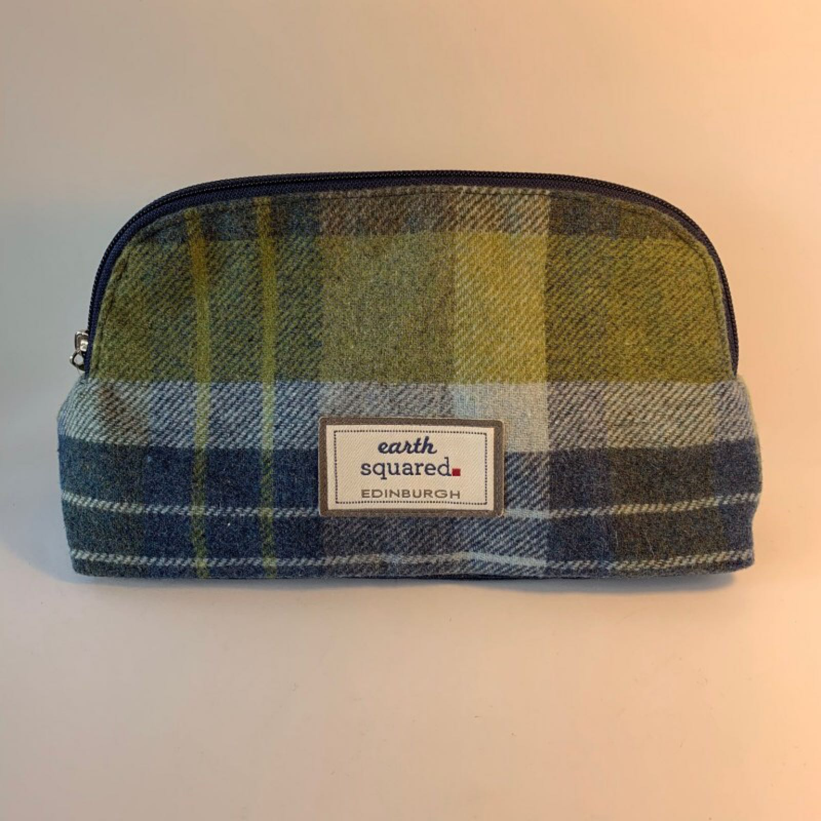 Earth Squared Toiletry Bag - Marina Blue Tweed