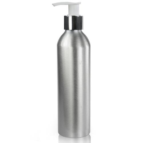 250ml Brushed Aluminium Bottles w/ Pump