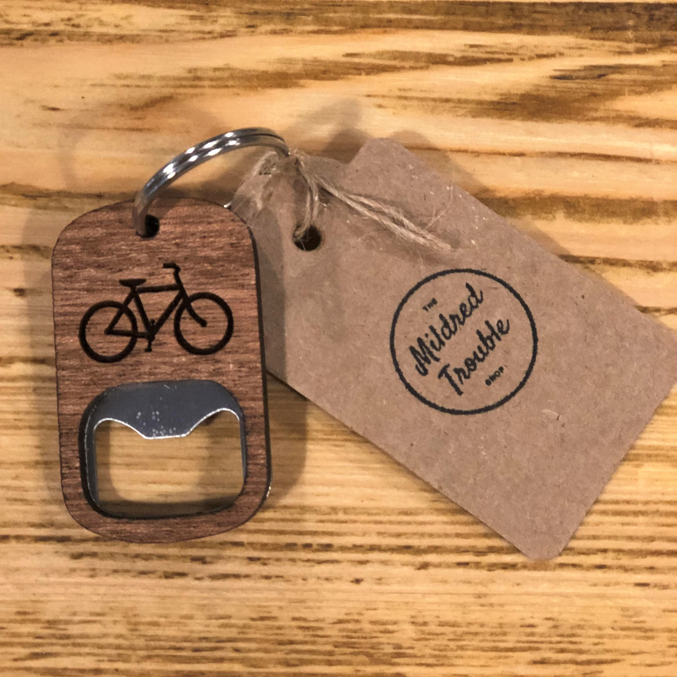 Bottle Opener Keyring by Mildred Trouble