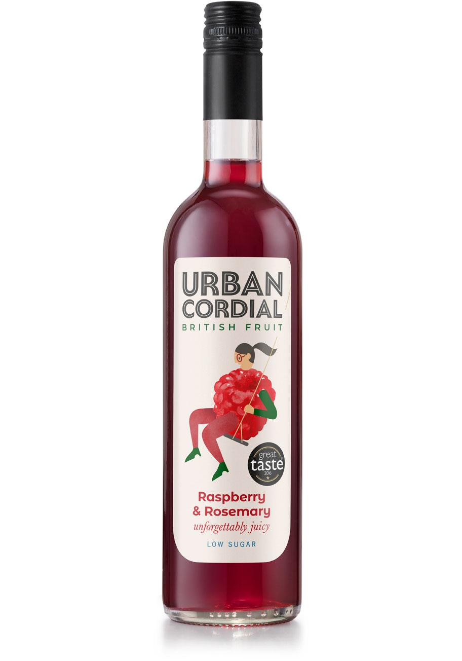 Raspberry & Rosemary Cordial - Urban Cordial