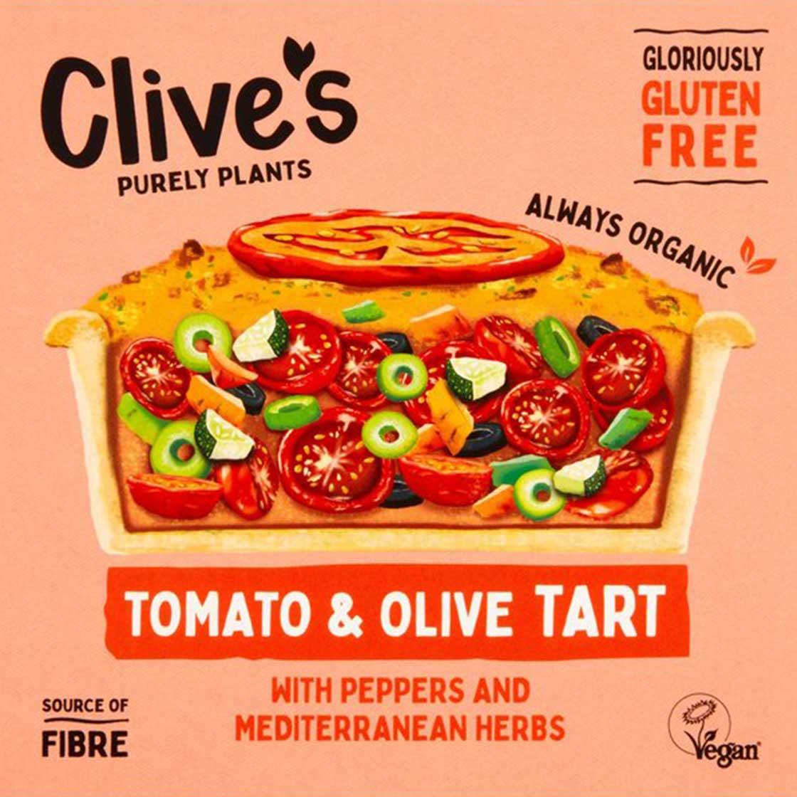 Tomato & Olive Provencale Tart, 190g (Gluten Free, Organic, Vegan)