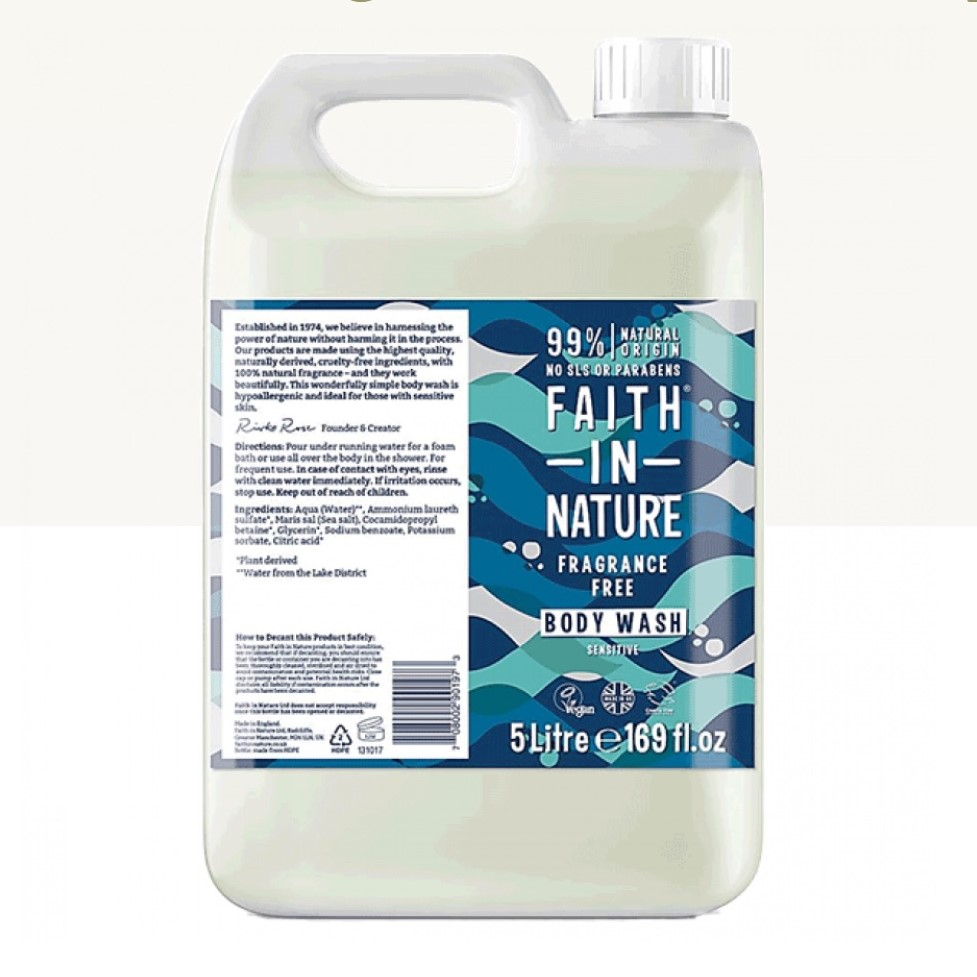 Body Wash - Fragrance Free (liquid only) by Faith in Nature