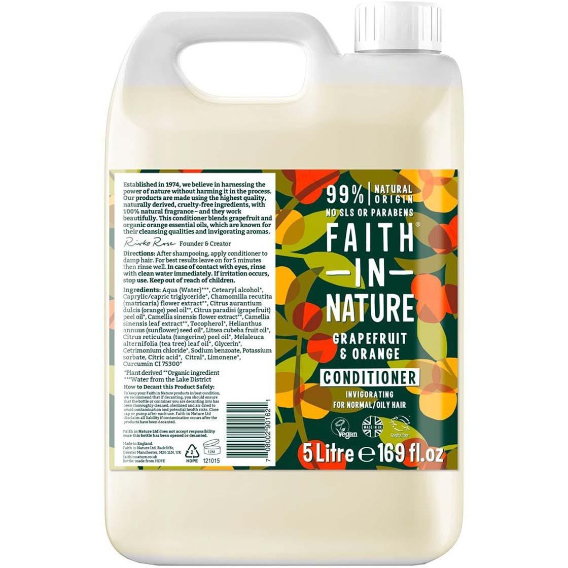 Conditioner - Grapefruit & Orange (liquid only) - Faith in Nature