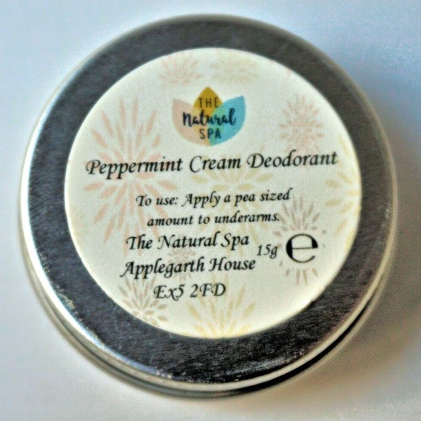Mini Cream Deodorant, 15g (Vegan) by The Natural Spa