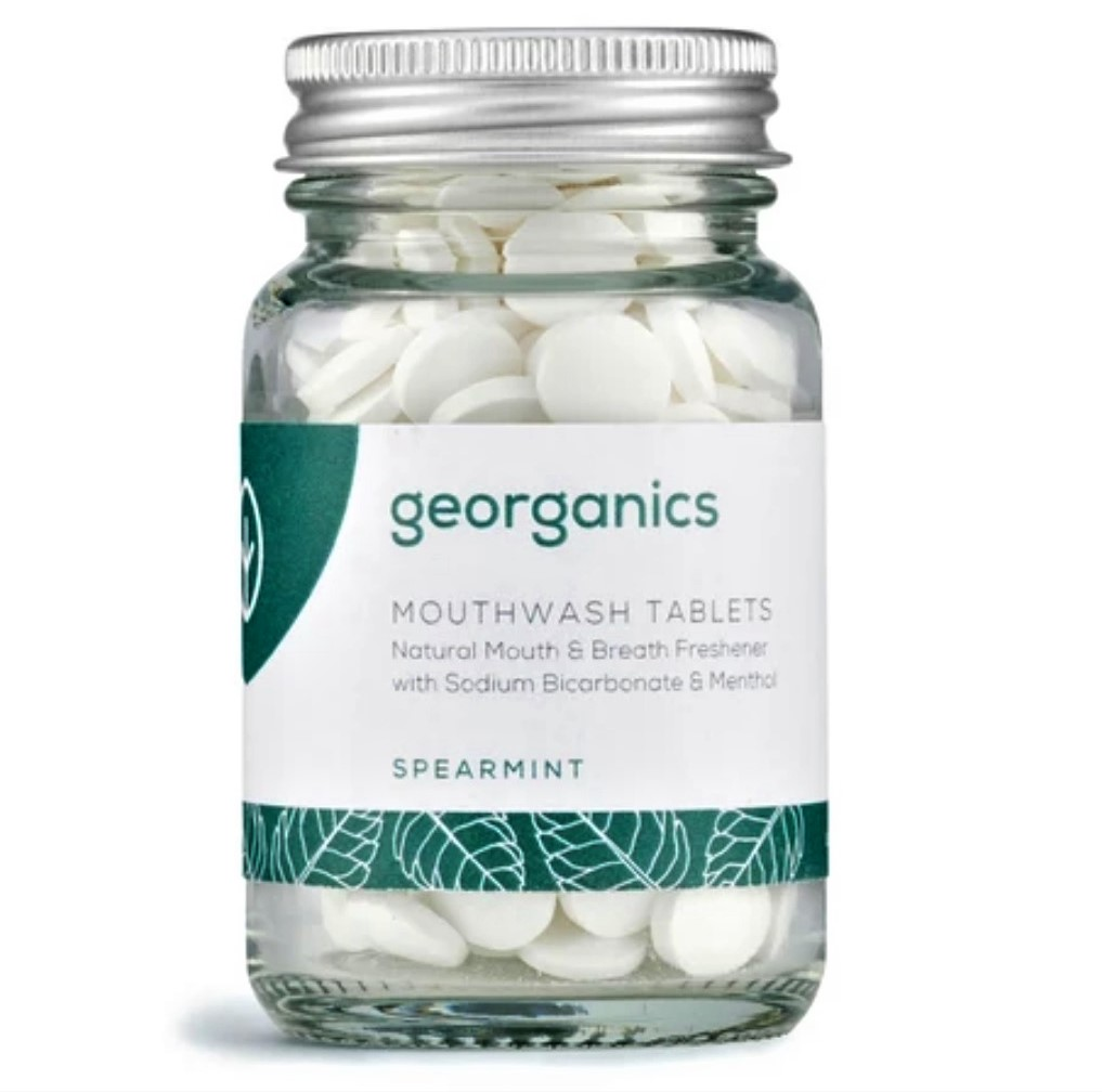 Mouthwash Tablets, Spearmint (180 tablets) by Georganics