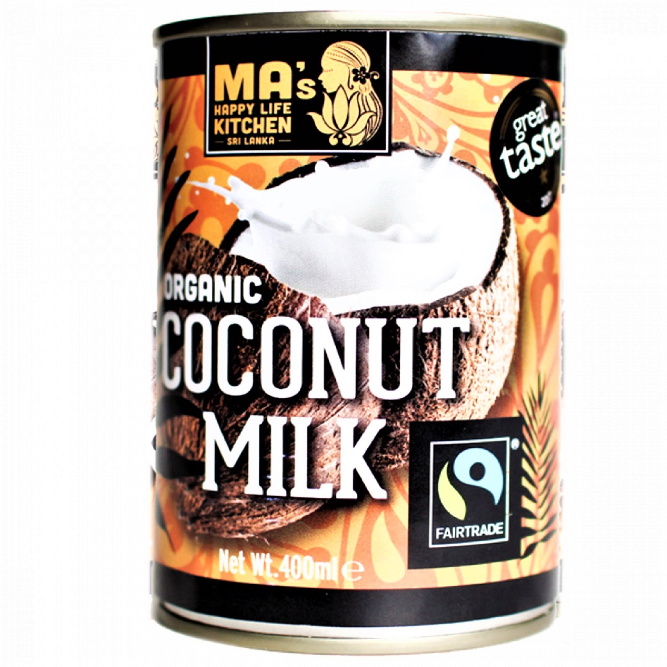 Coconut Milk, 400g (Fairtrade, Organic) by Ma's Kitchen