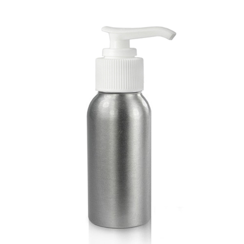 50ml Brushed Aluminium Bottles w/pump