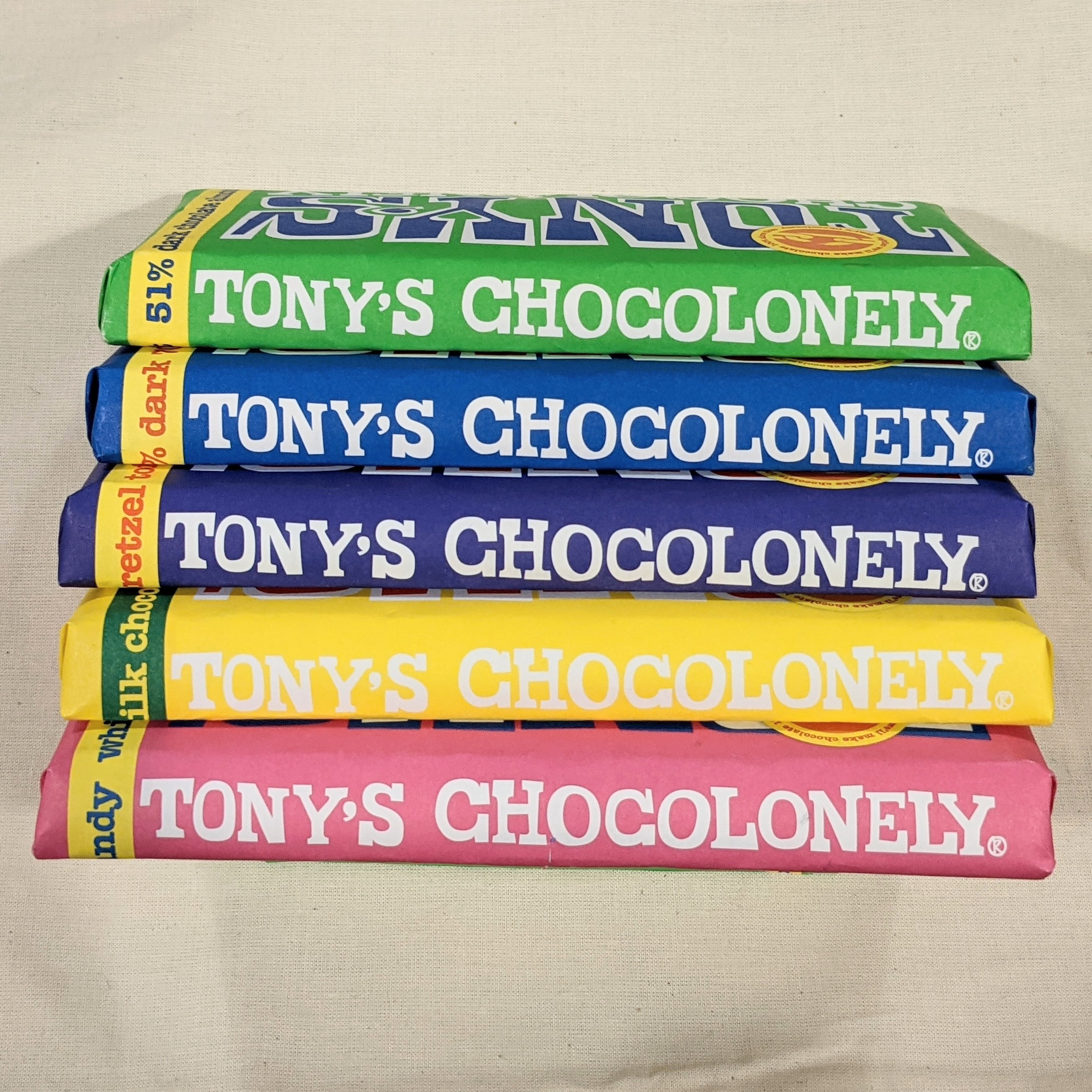 Chocolate bar (180g) by Tony's Chocolonely (Faitrade)