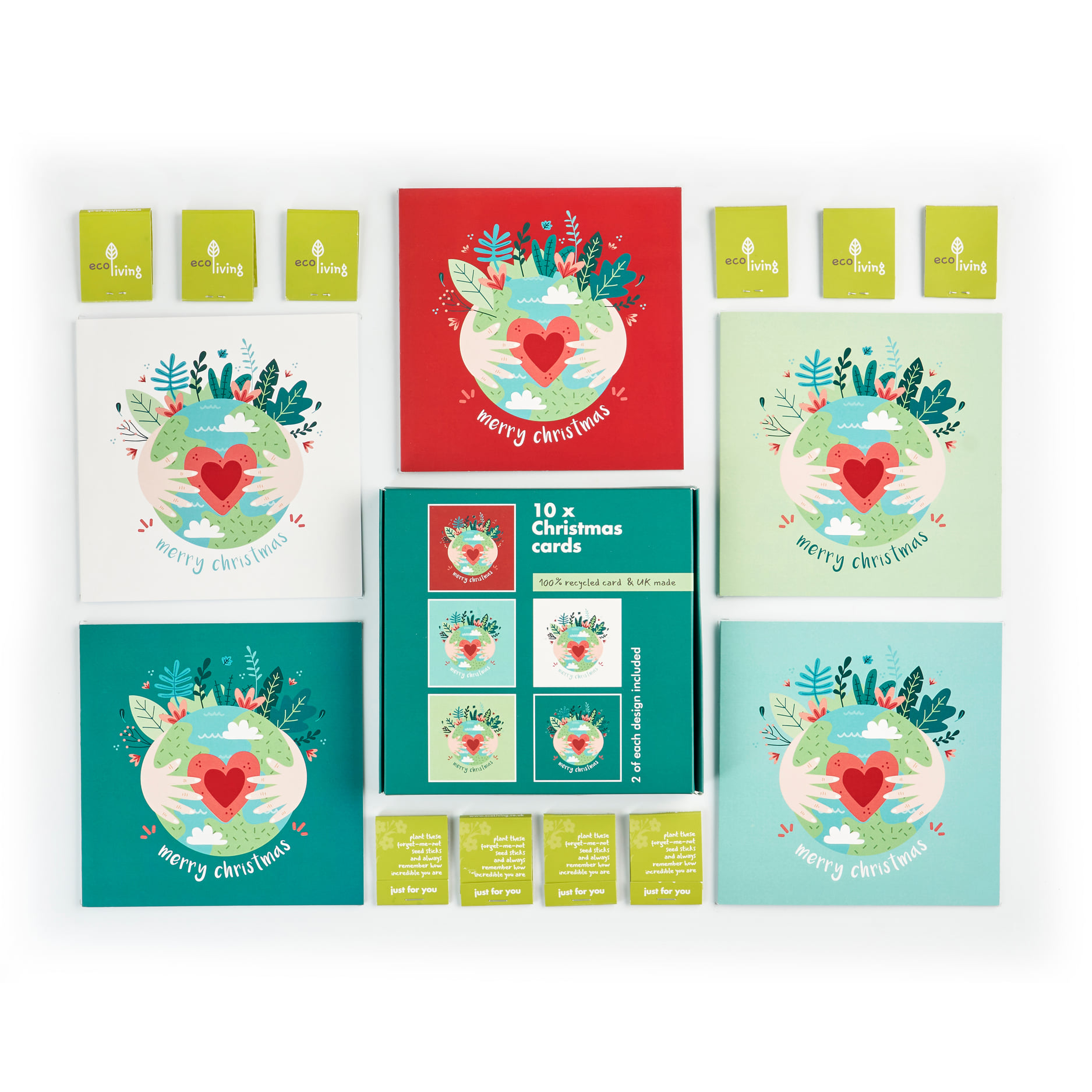 Recycled Christmas Cards, Pack of 10  - 10 Trees Planted (FSC 100%)