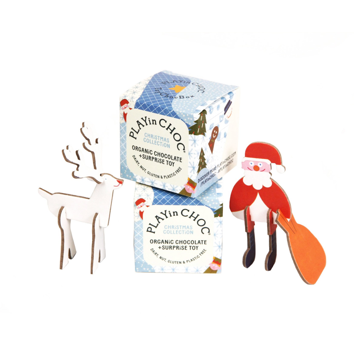 ToyChoc Box - Christmas Series (Vegan, GF, Organic) by PLAYin CHOC