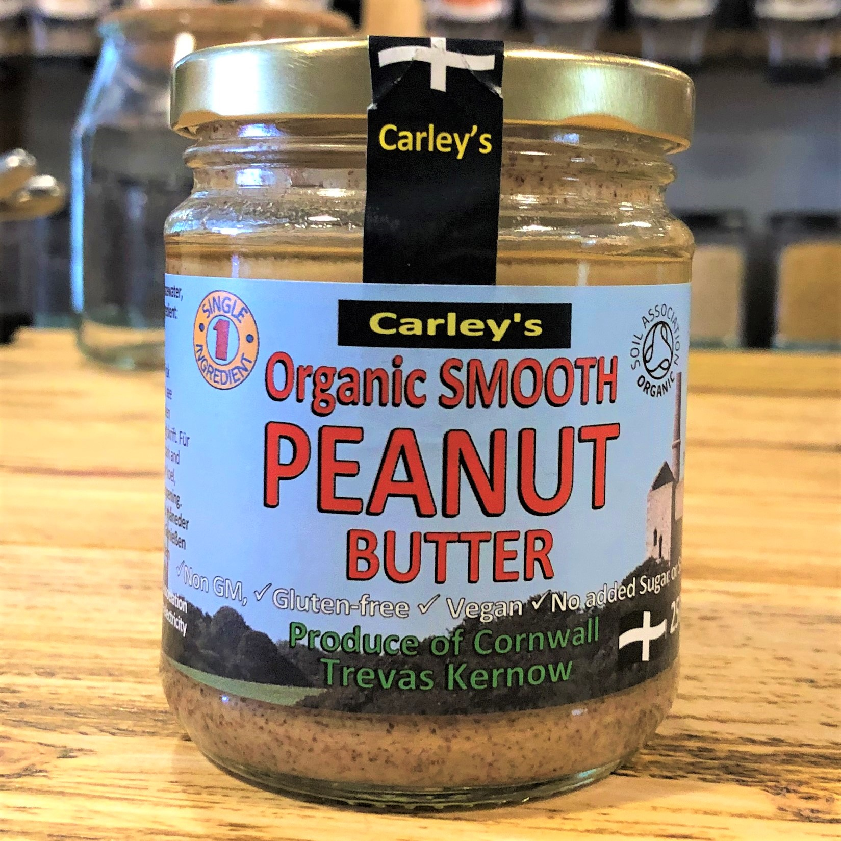 Peanut Butter, Smooth, 250g (Organic) by Carley's