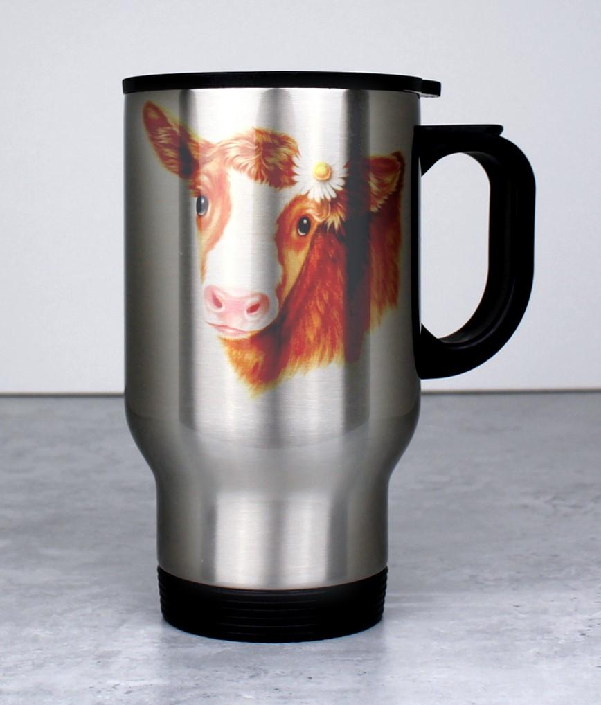 Lehmä Ruskea -Termosmuki