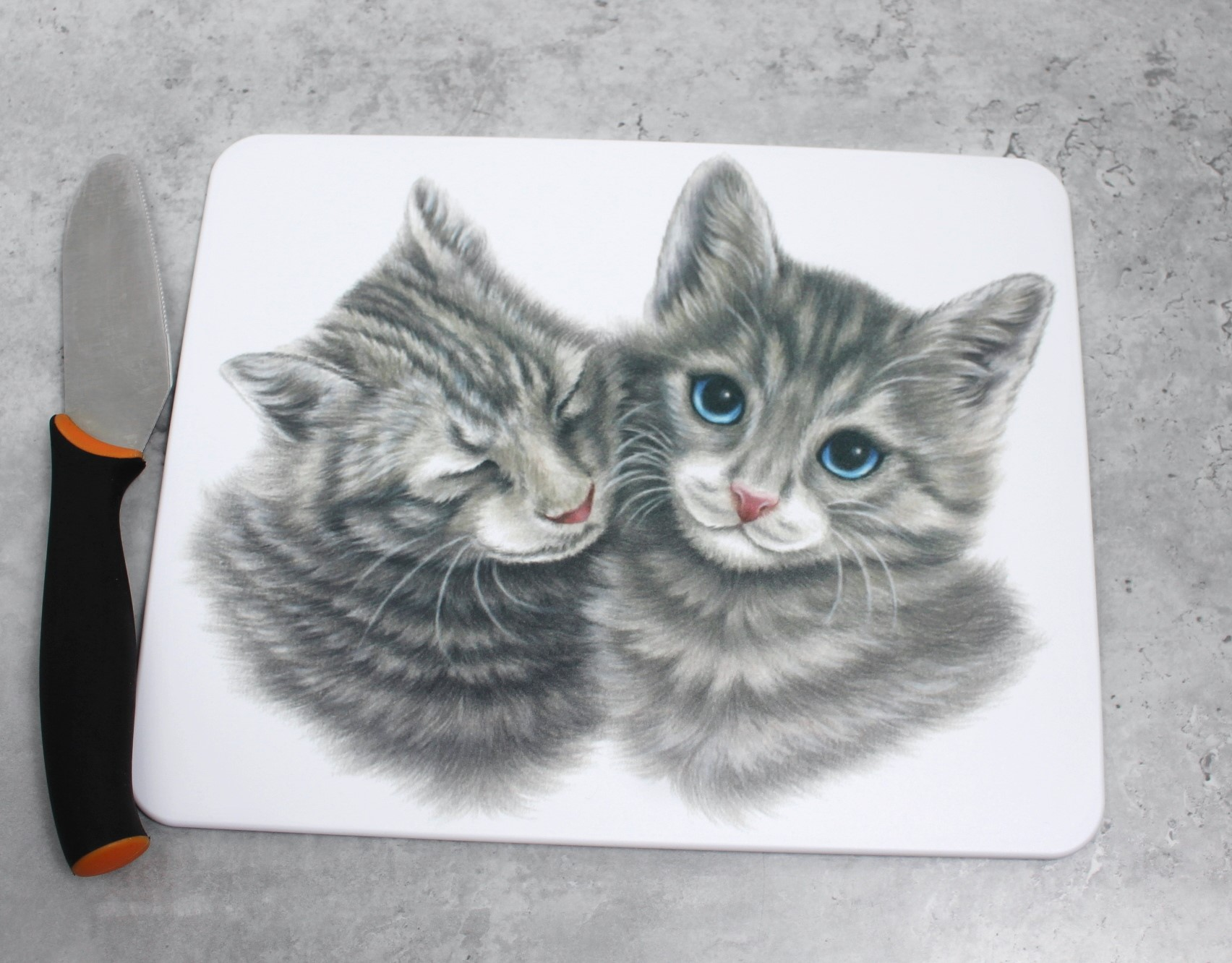 Kissapari -Leikkuulauta