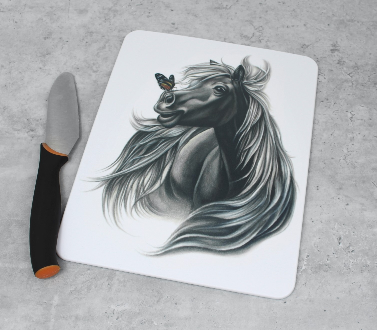 Hevonen ja perhonen -Leikkuulauta